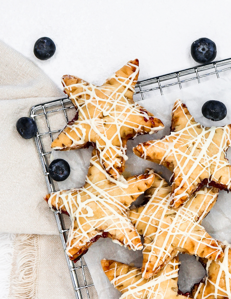 Healthy Berry PopTarts Made with Olive Oil (July 4th)