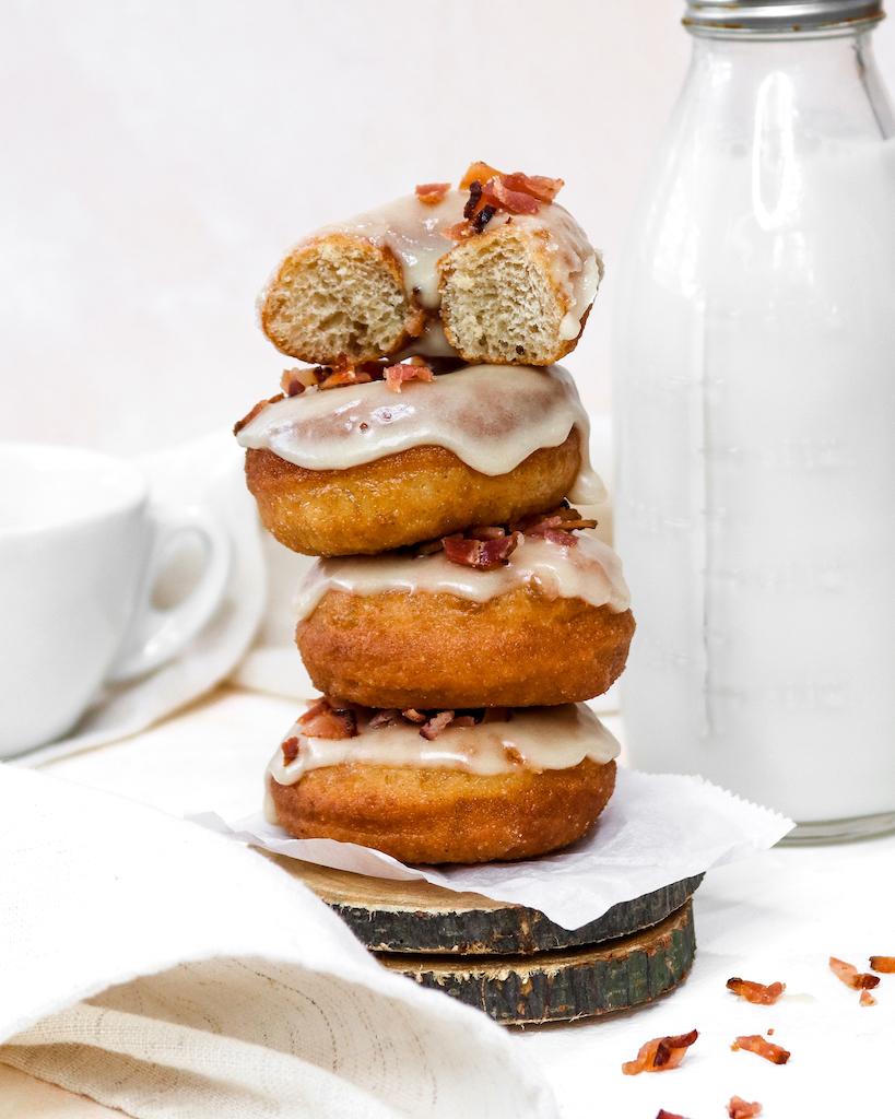 Mini Maple Bacon Brioche Donuts