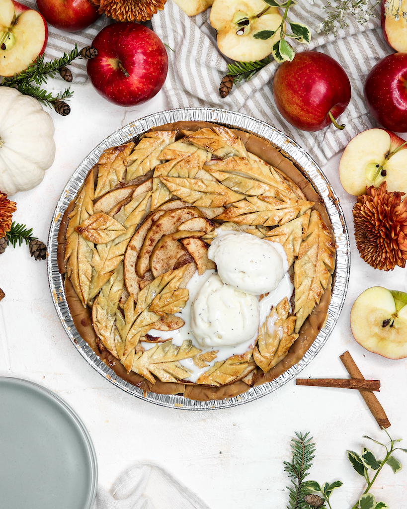 Healthy Apple Pie with Olive Oil Pie Crust