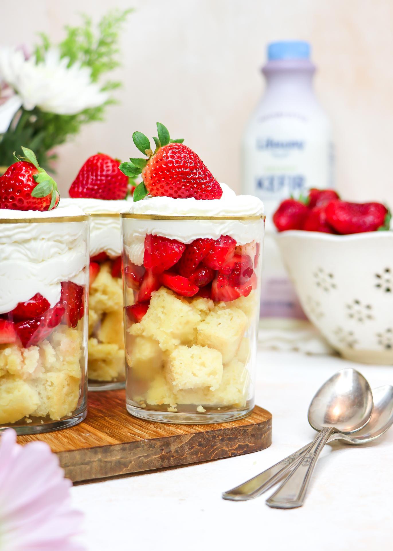 Healthier Mini Strawberry Shortcakes (Individual Dessert Recipe)