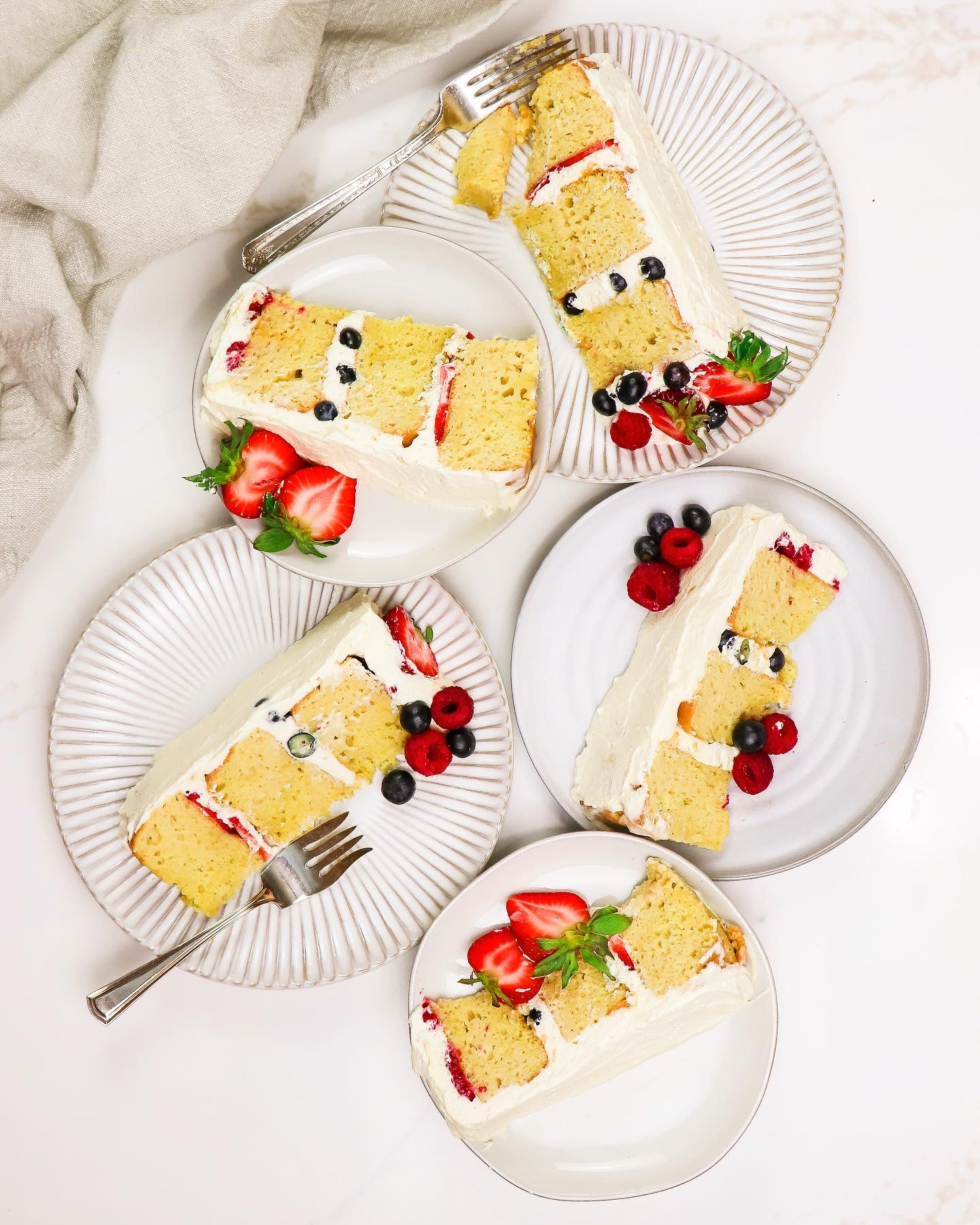 Layered Tres Leches Cake with Summer Berries