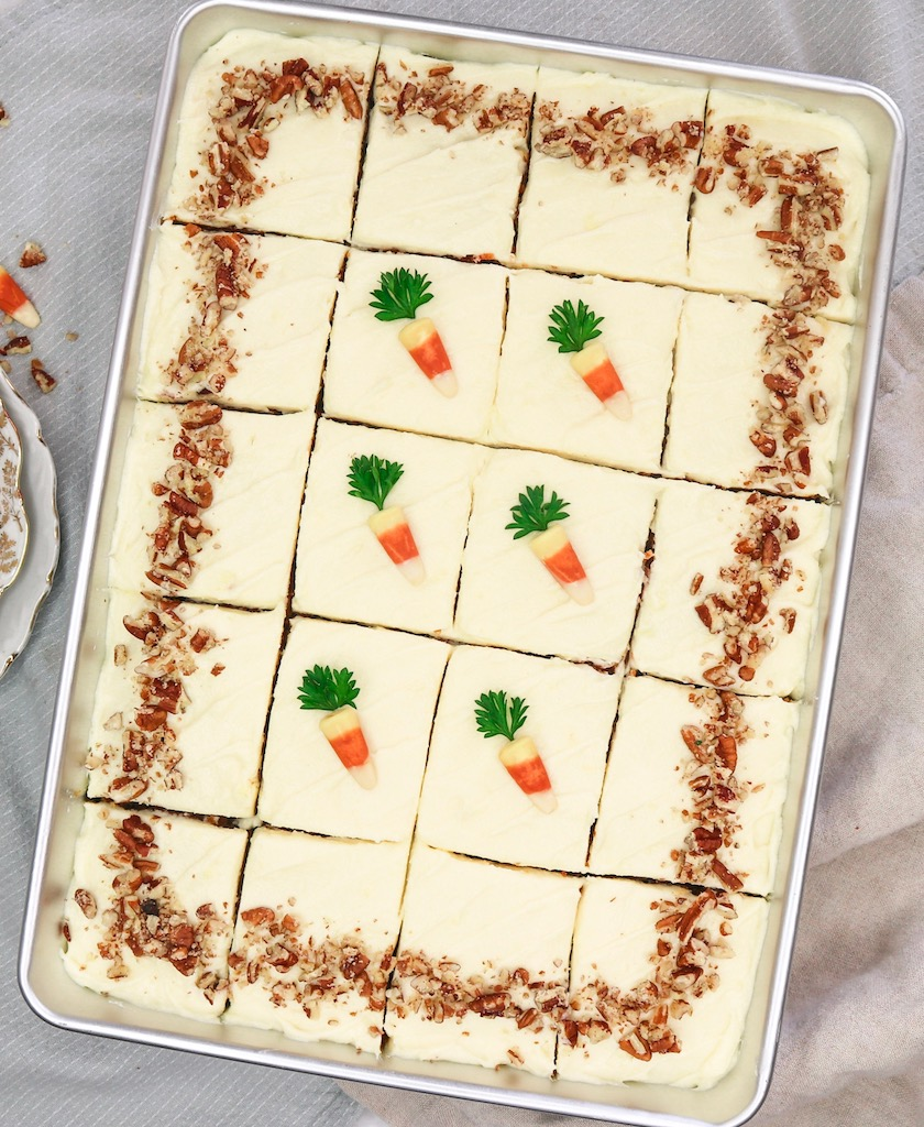 Super Moist Carrot Cake with Olive Oil