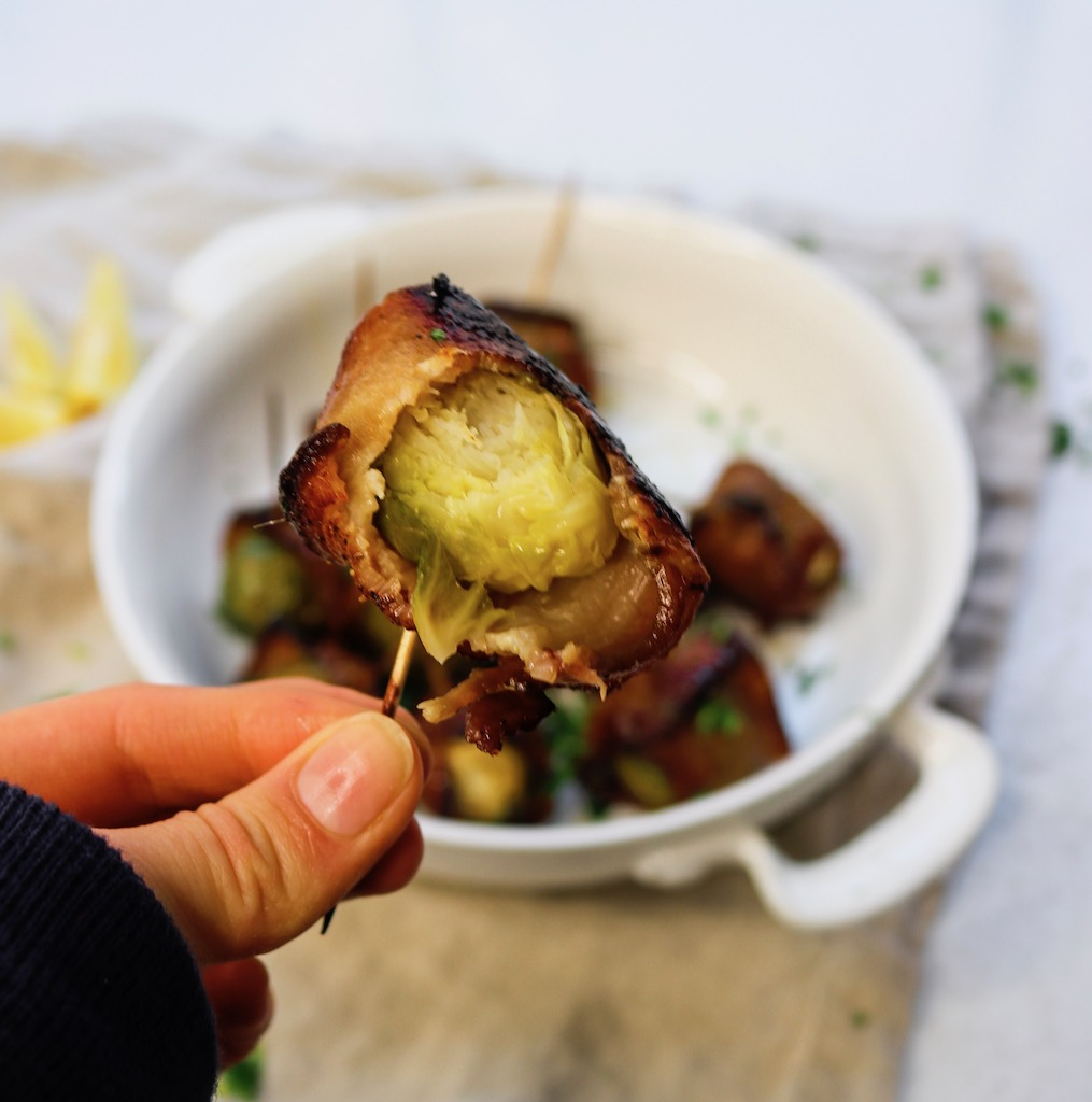 Honey & Bacon-Wrapped Brussel Sprouts Appetizer