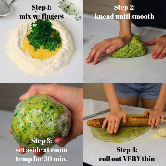 Homemade Fresh Herb Pasta (Without Pasta Machine) Recipe