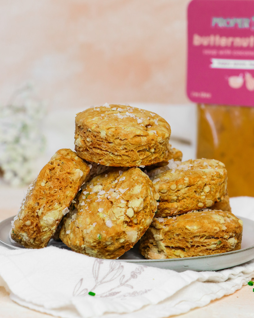 Flaky Butternut Squash & Parmesan Biscuits