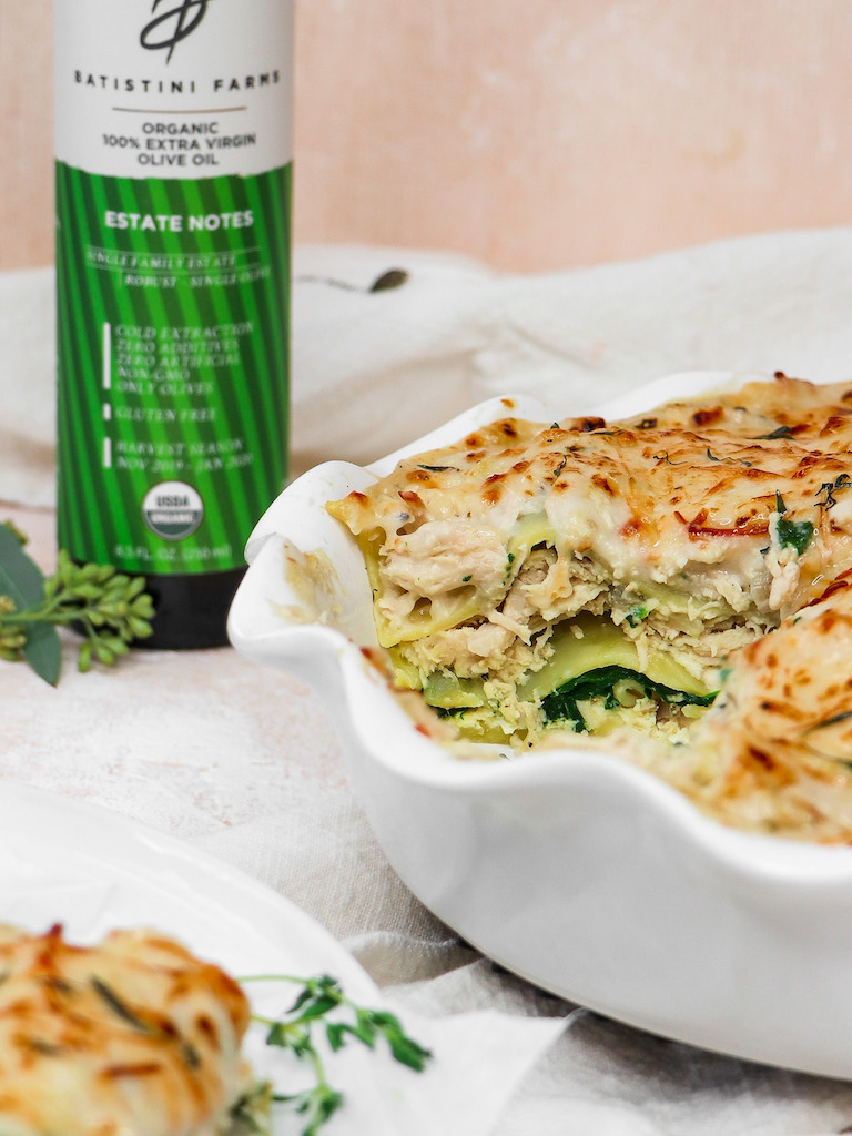 Small-Batch Chicken & Spinach White Lasagna