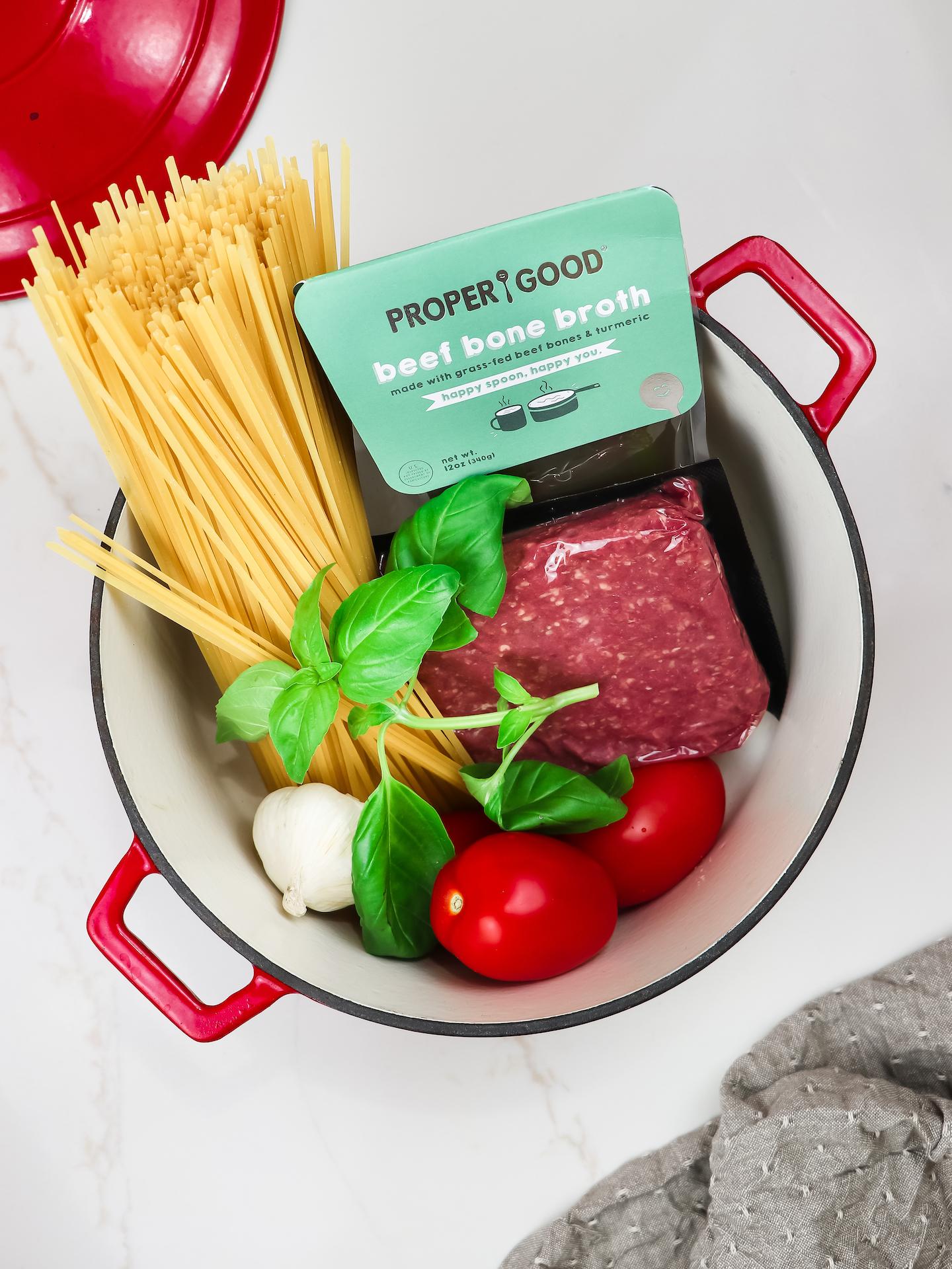 One-Pot Creamy Parmesan & Ground Beef Pasta