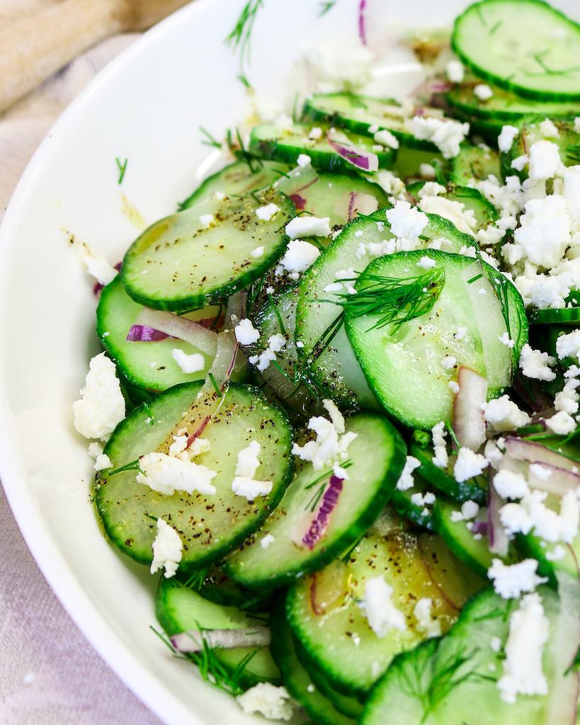 Feta, Red Onion & Cucumber Salad