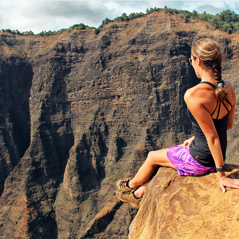 The blogger at a canyon