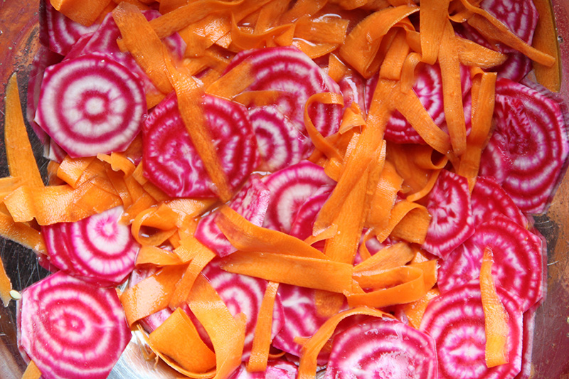 Marinating beets and carrots