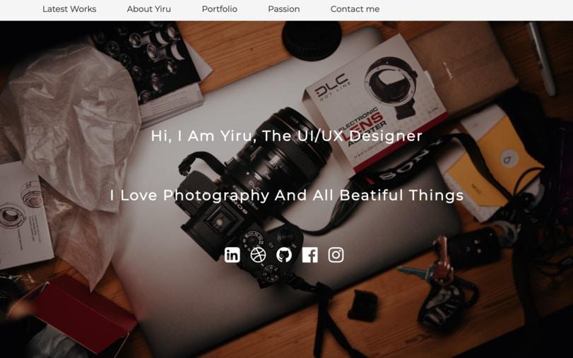 Yiru RWD website sample