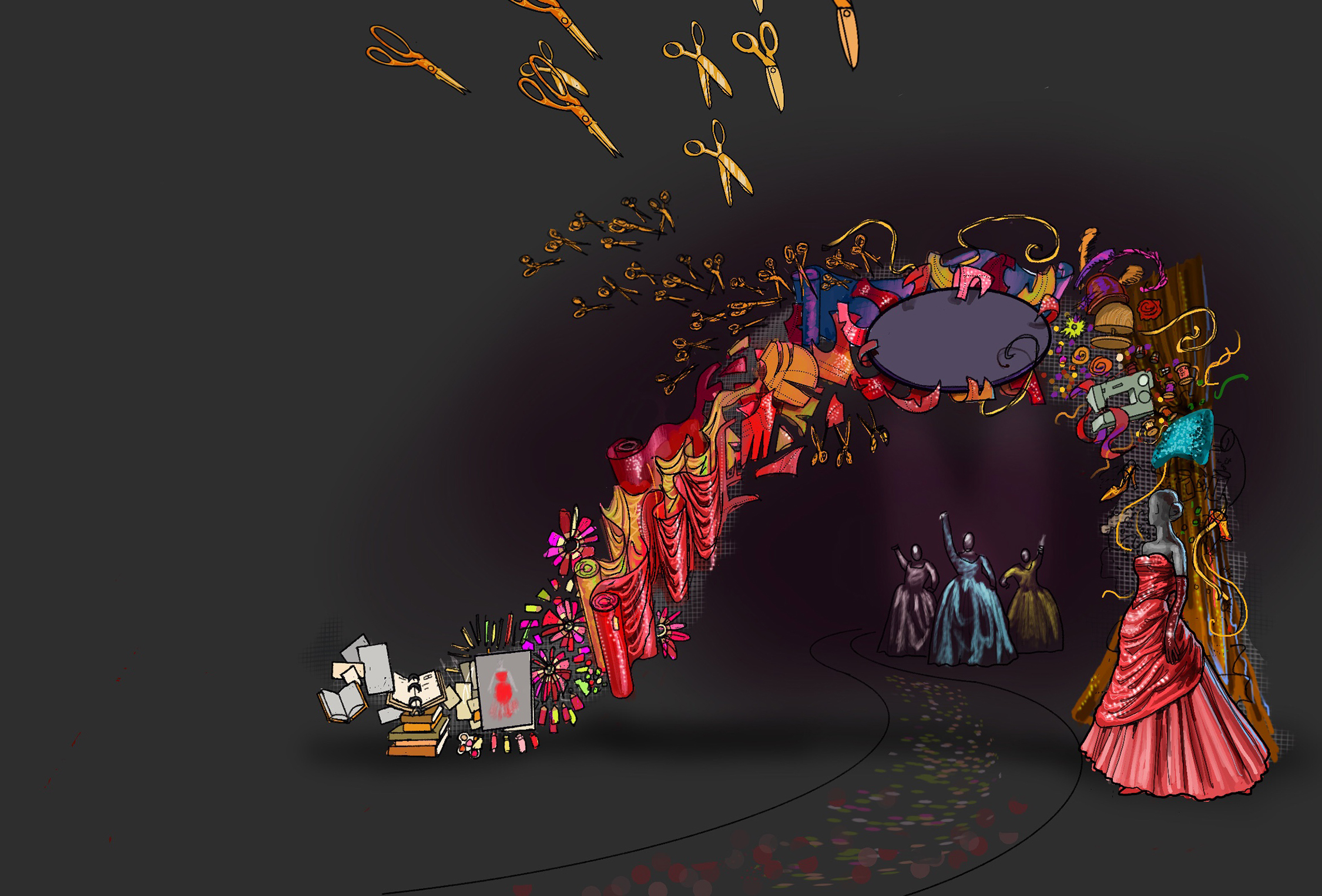 Rendering of entry to the exhibition.