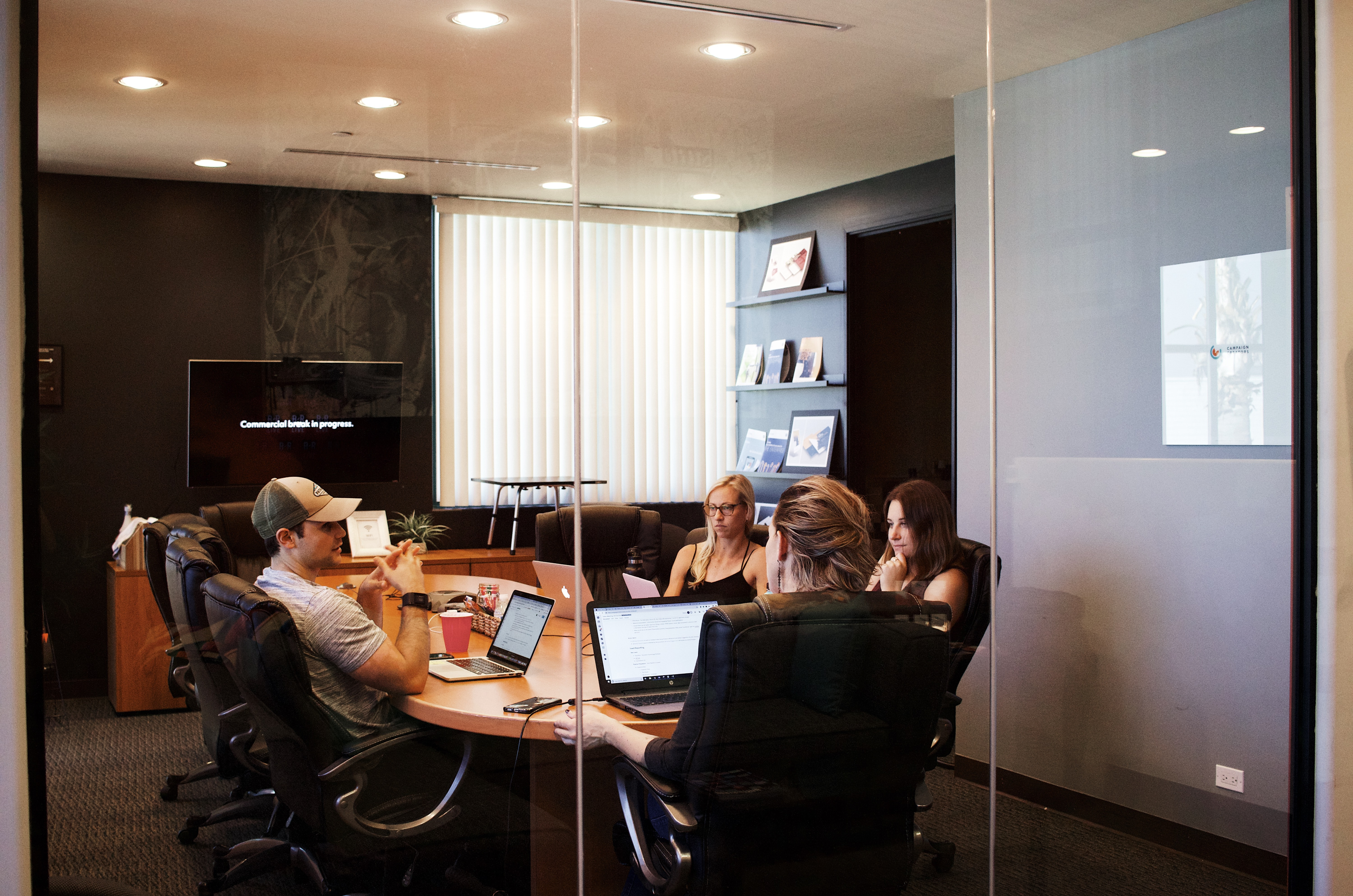 Team of Business-people in an office