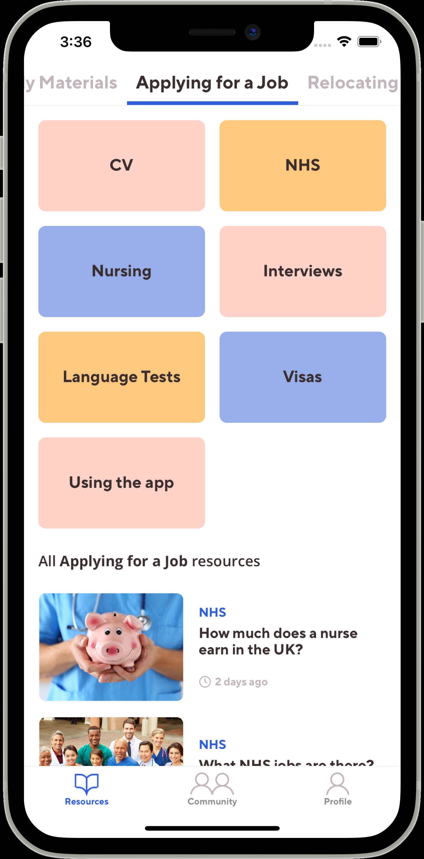 Migrate - The international healthcare recruitment app