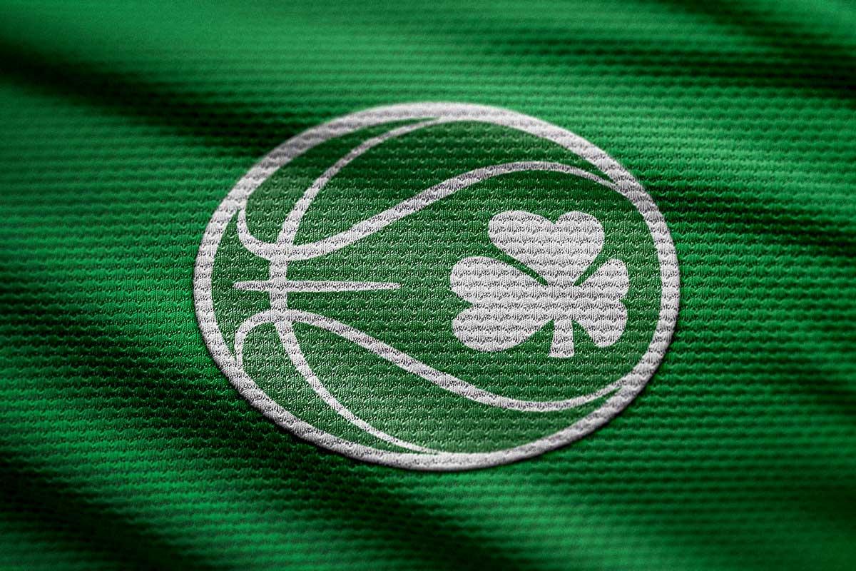 New Basketball Ireland logo on shorts fabric