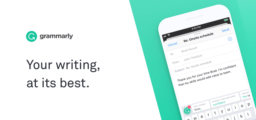 Grammarly is a top five tool for new business owners