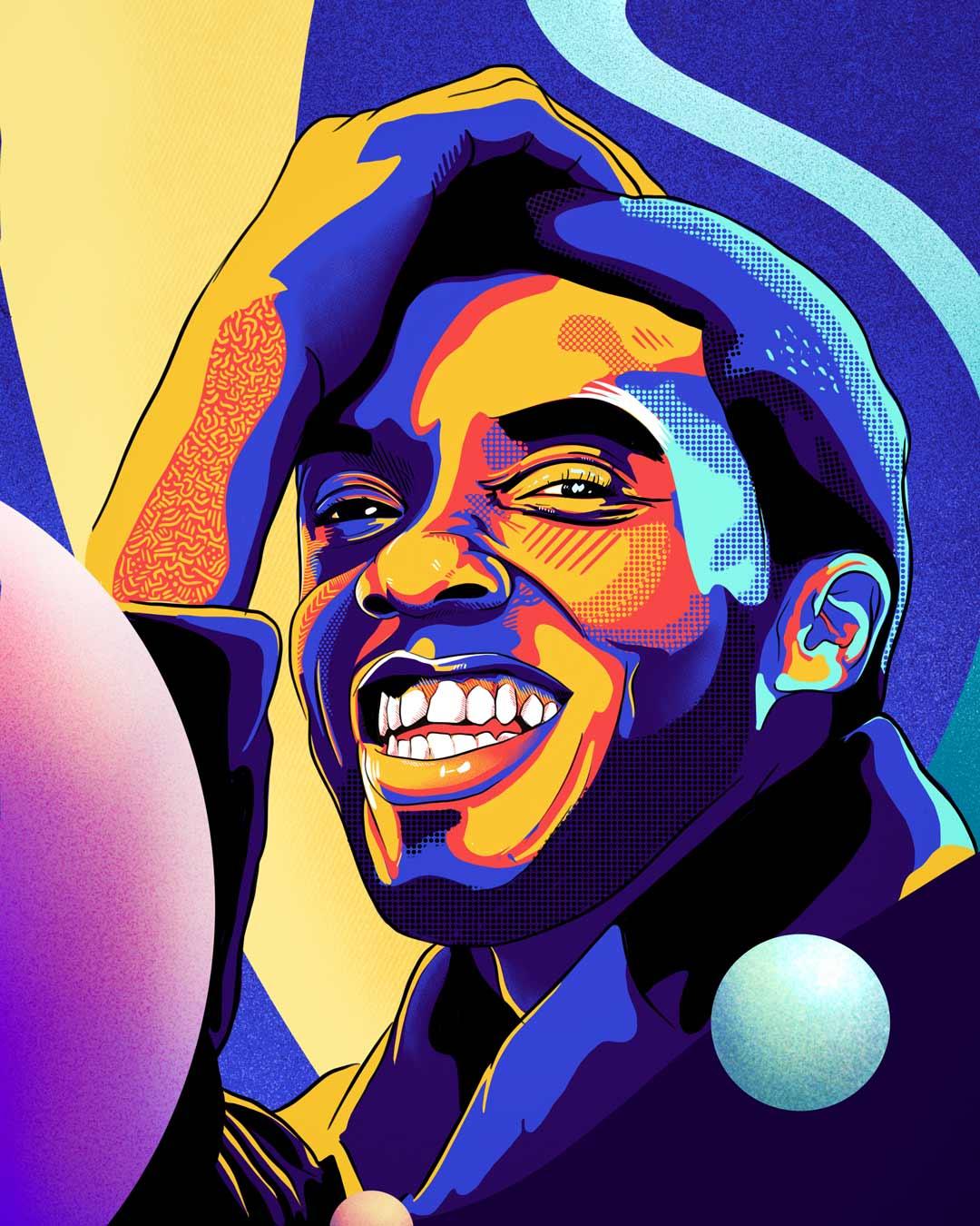 Chadwick Boseman Illustration