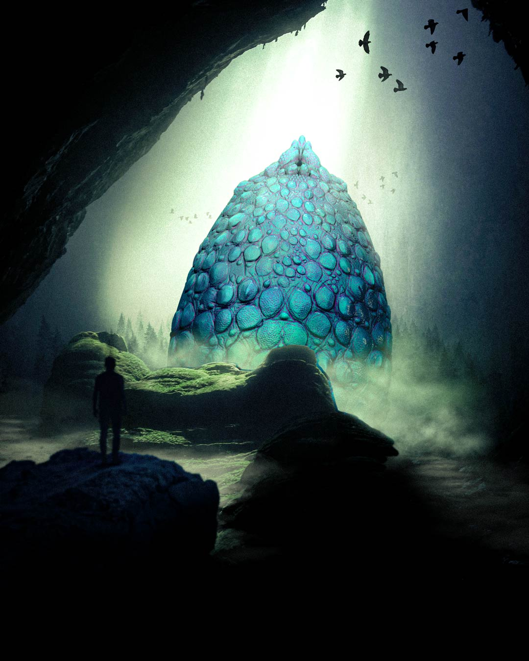 Dragon Egg in Cave designed by Adam Ingle