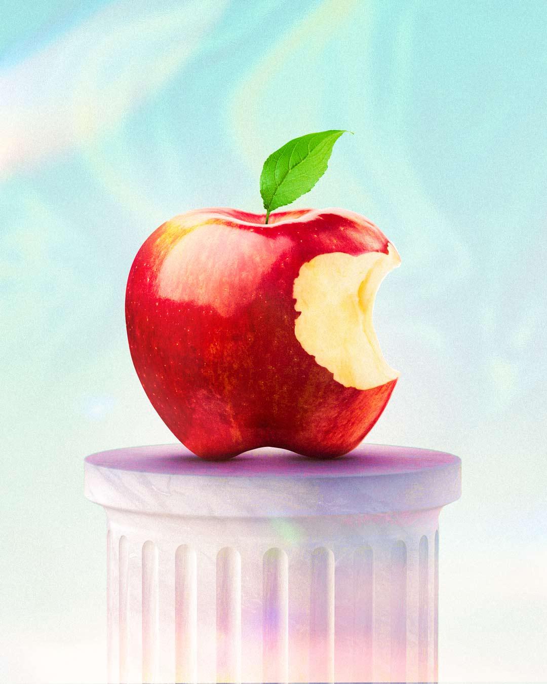 Modern apple logo by Adam Ingle