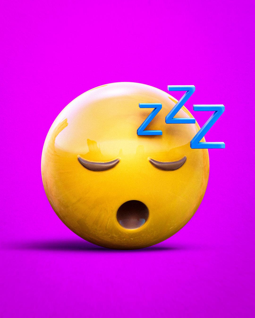 3D tired emoji