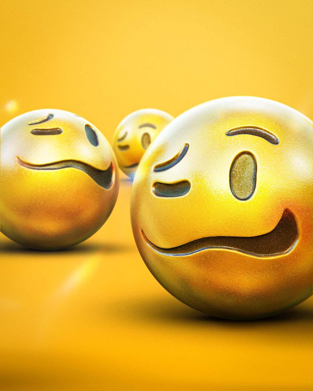 Drunk Emoji 3D Render by Adam Ingle