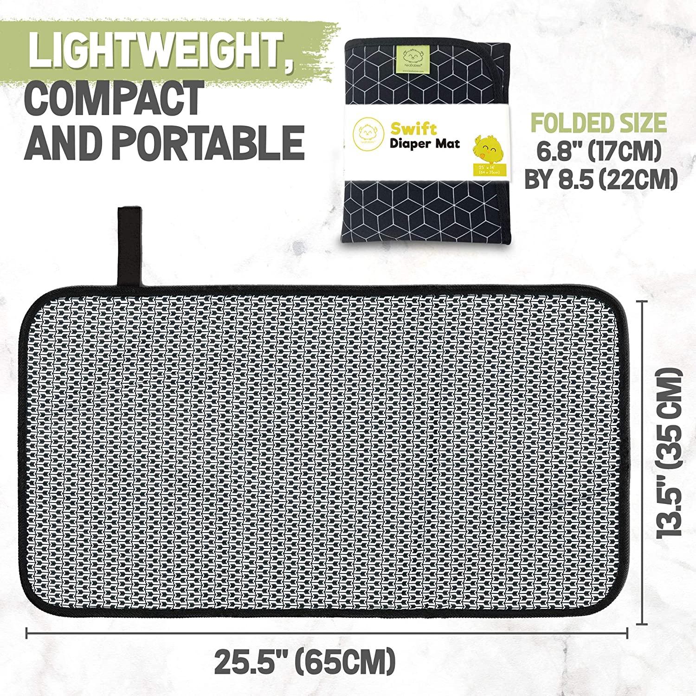 Portable diaper mat