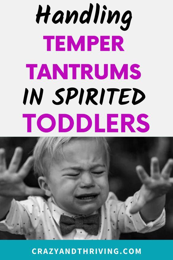 Managing temper tantrums in kids