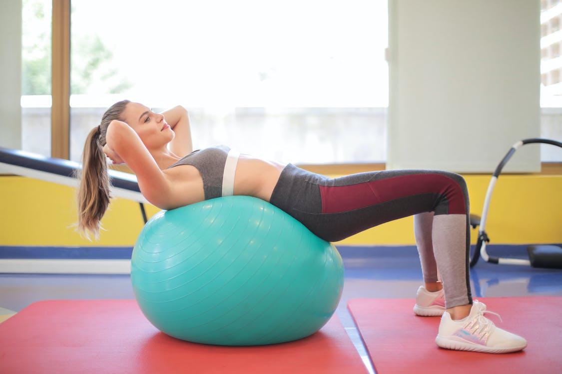 Mom gym alternatives: Use an exercise ball