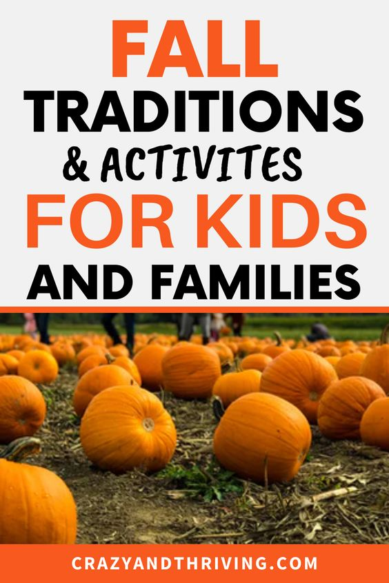 Fall traditions and activities for families