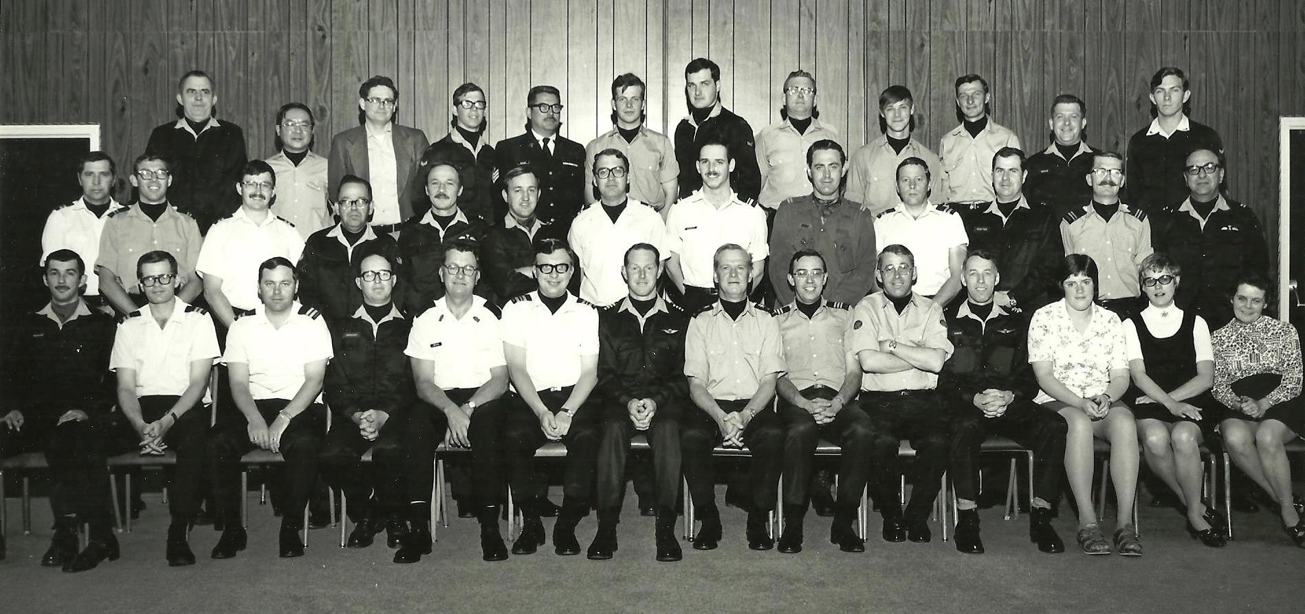 1 Canadian Mechanized Brigade Group, Sarcee Barracks, CFB Calgary, Alberta, June 1975 (Author standing in the centre row, 8th from the left)