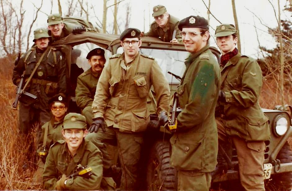 3 Intelligence Company, Halifax Nova Scotia, on exercise at Camp Aldershot, Fall 1975