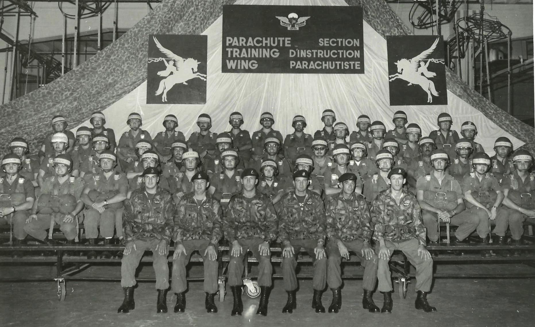 Basic Parachutist Course, Canadian Airborne Centre (CABC), CFB Edmonton, Alberta, Sep 1975