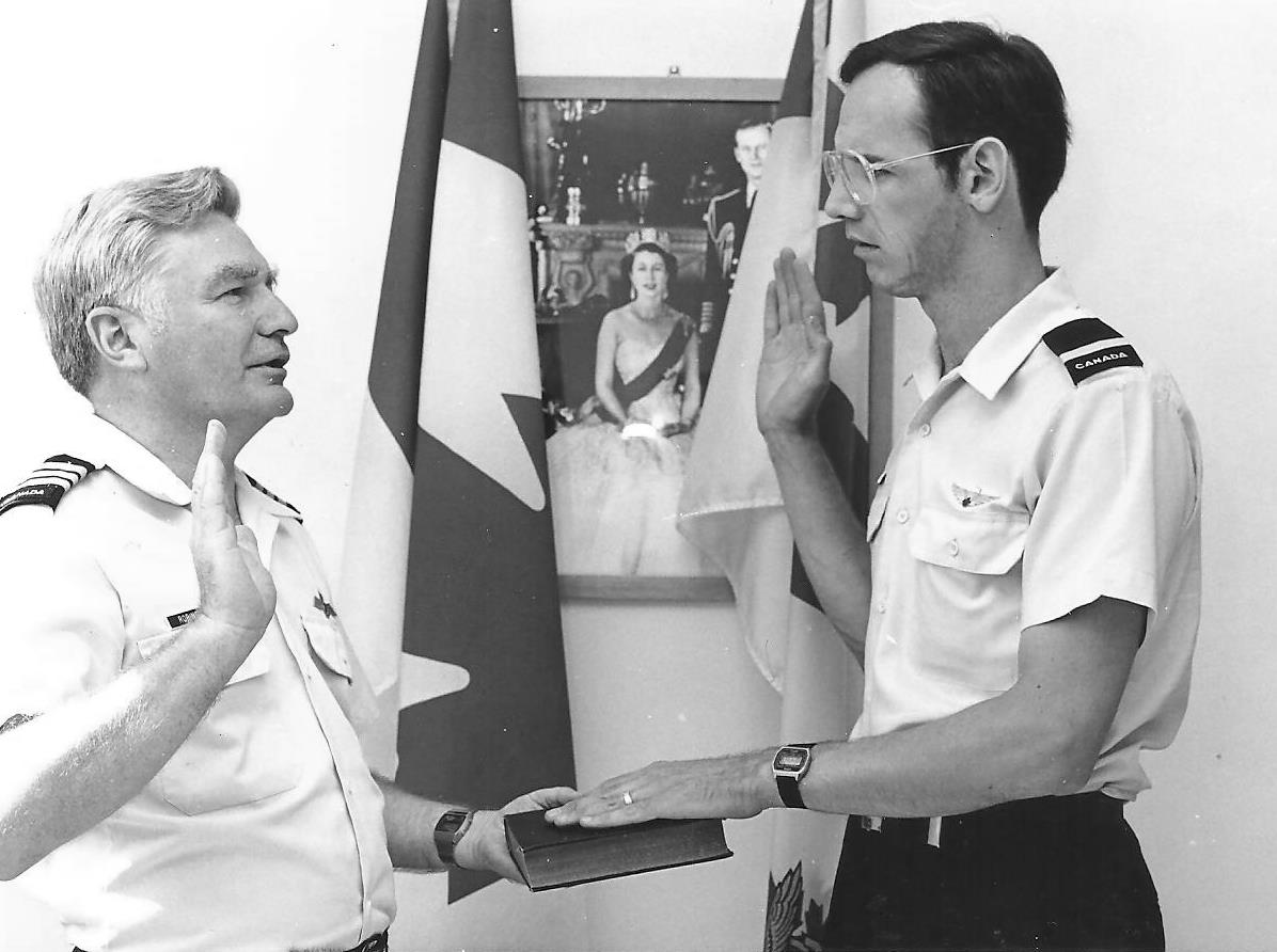 Hal is was sworn into the Canadian Forces Intelligence Branch, Regular Force, as a Second Lieutenant on 19 July 1983