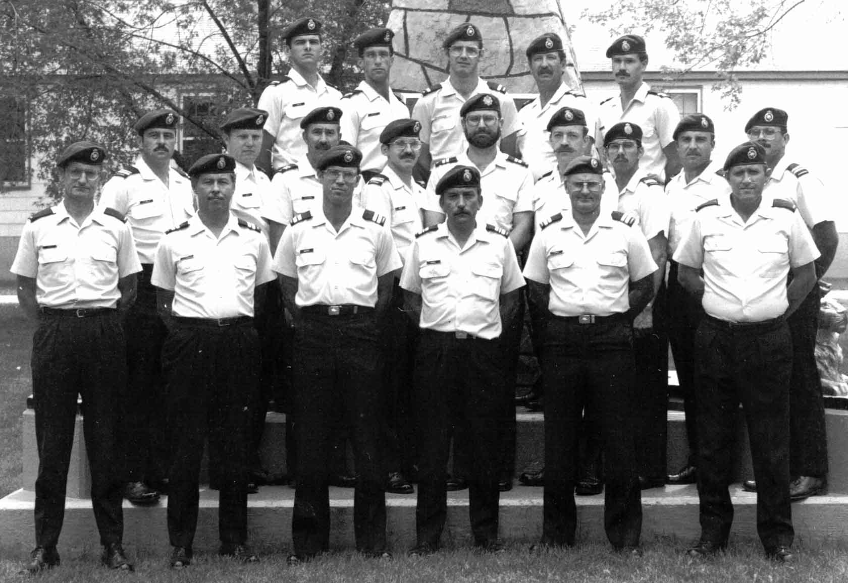 Hal after completion of the Basic Intelligence Officer 82A, Course 8301 at CFSIS on 23 Nov 1983