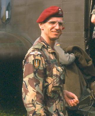 Harold A. Skaarup as the Regimental Intelligence Officer for the Canadian Airborne Regiment