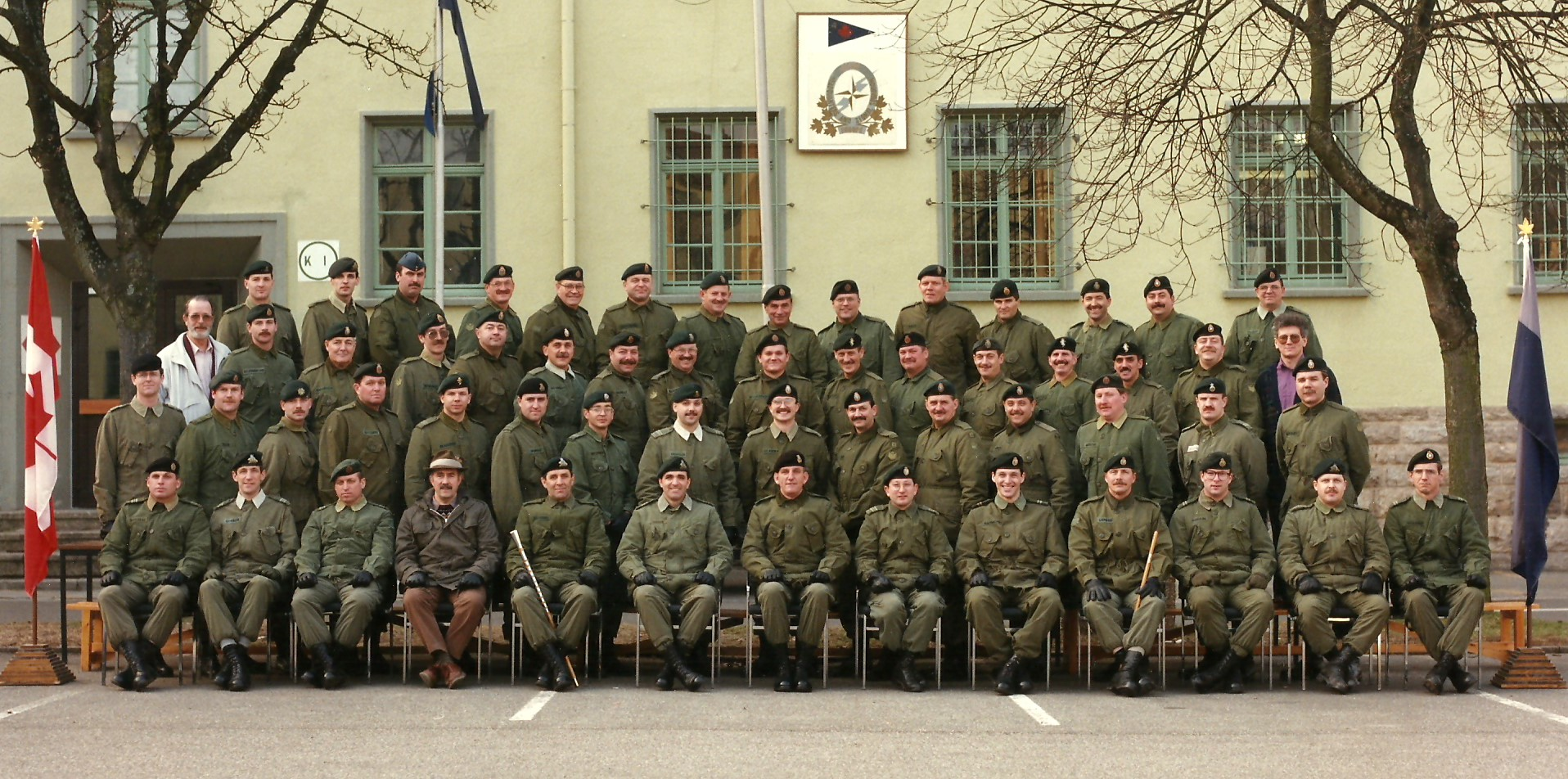 4 CMBG HQ and Signals Squadron Officers and Senior NCOs, Lahr, Germany, January 1992