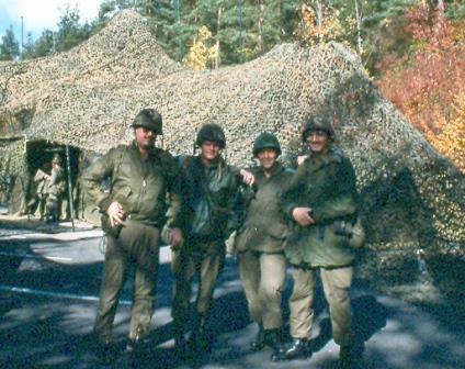 Harold A. Skaarup with friends in FallEx 1989, Germany