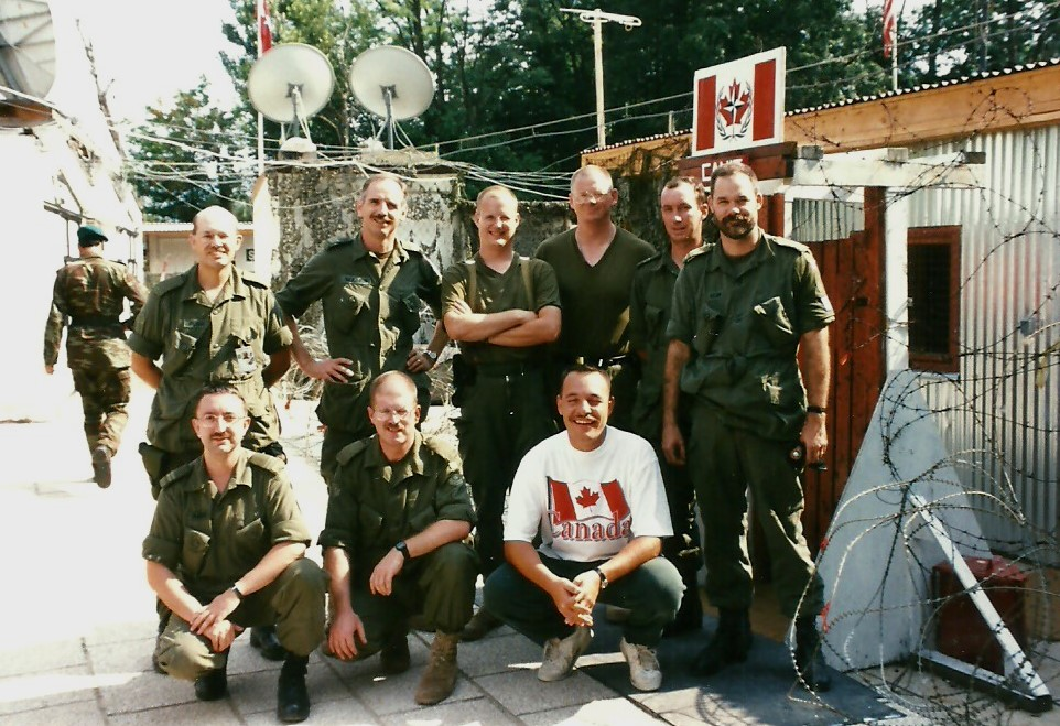Major Skaarup as the Commanding Officer (CO) of the Canadian National Intelligence Centre (CANIC) with the NATO-led Peace Stabilization Force (SFOR) in Sarajevo, Bosnia-Herzegovina