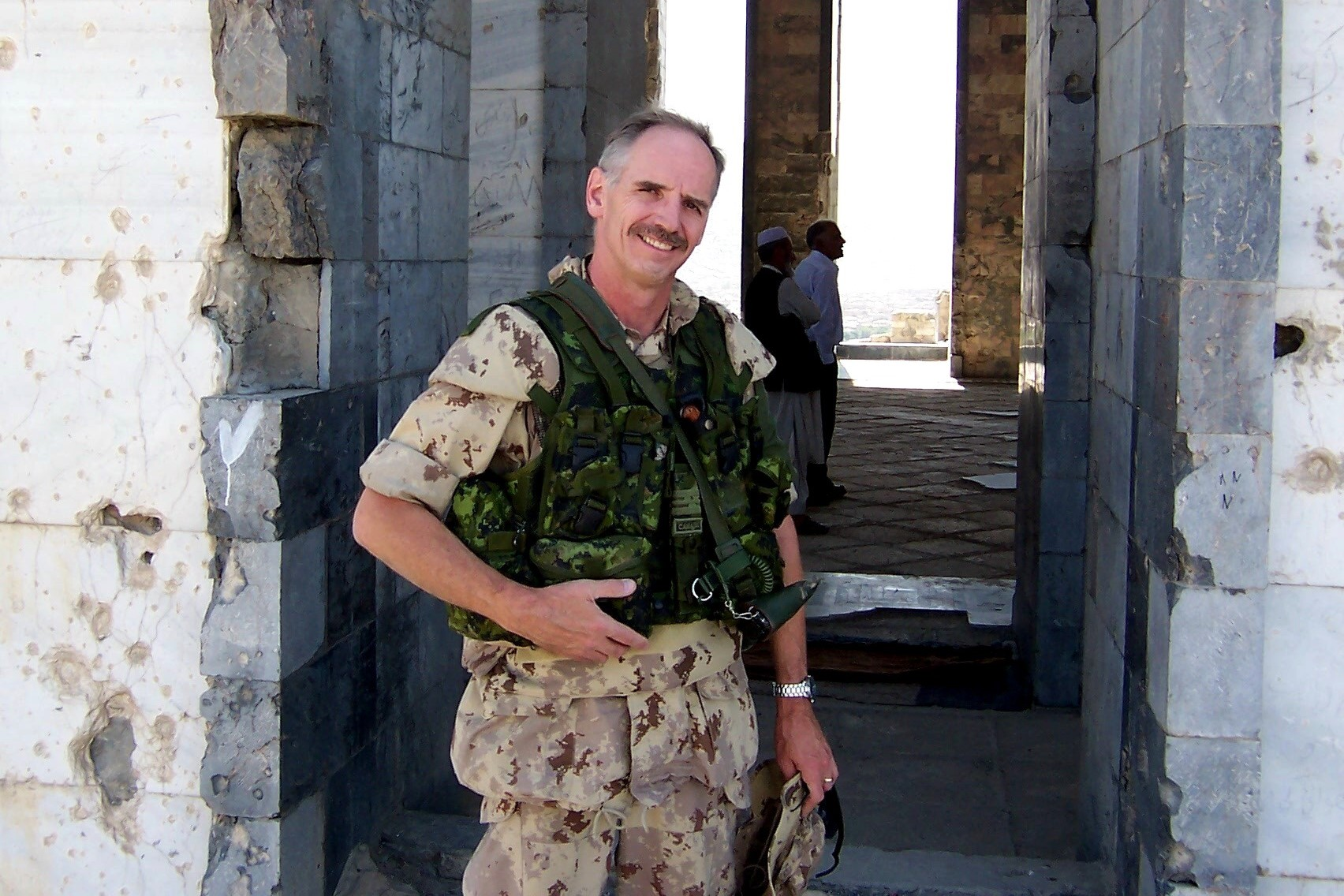 Harold A. Skaarup as the Deputy G2 and Chief of Intelligence Assessments on the staff of the Kabul Multinational Brigade (KMNB), as part of the International Security Assistance Force (ISAF), in Kabul, Afghanistan