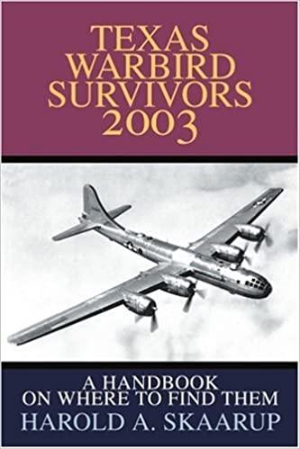 Texas Warbird Survivors 2003: A Handbook on where to find them