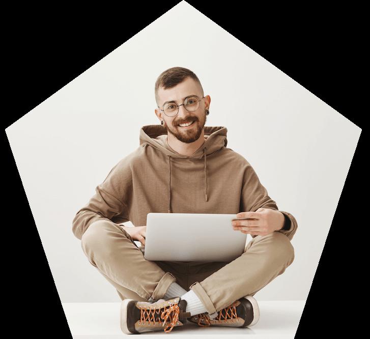 Developer working on a laptop
