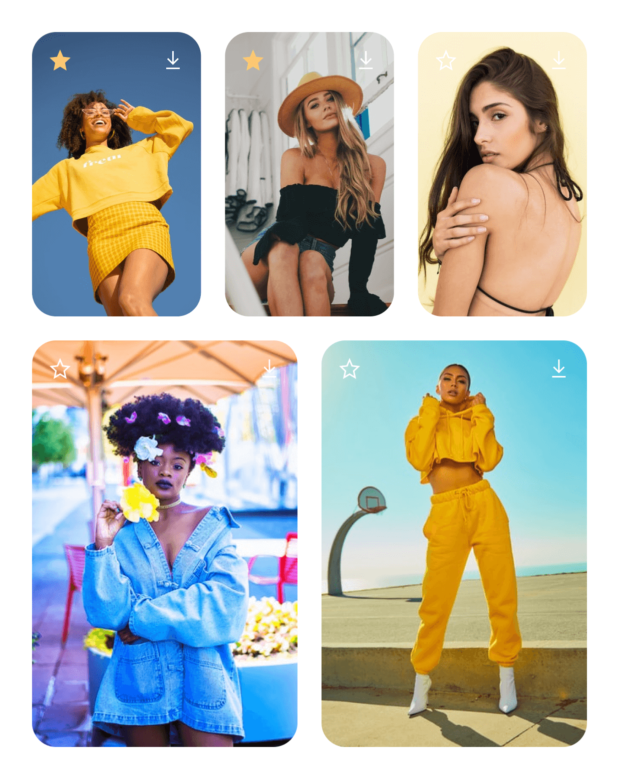 Illustration of a Instagram mentions gallery