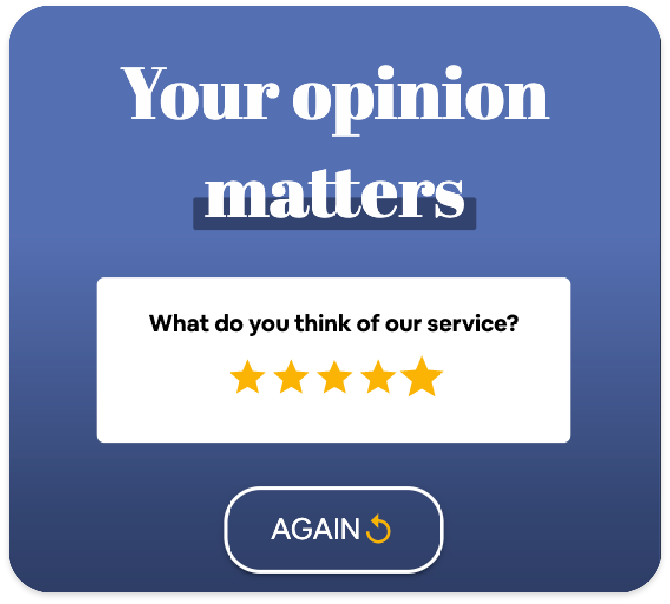 Récoltez du feedback