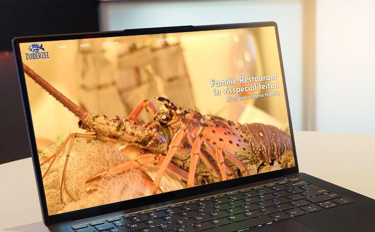Website design van Restaurant Zuiderzee