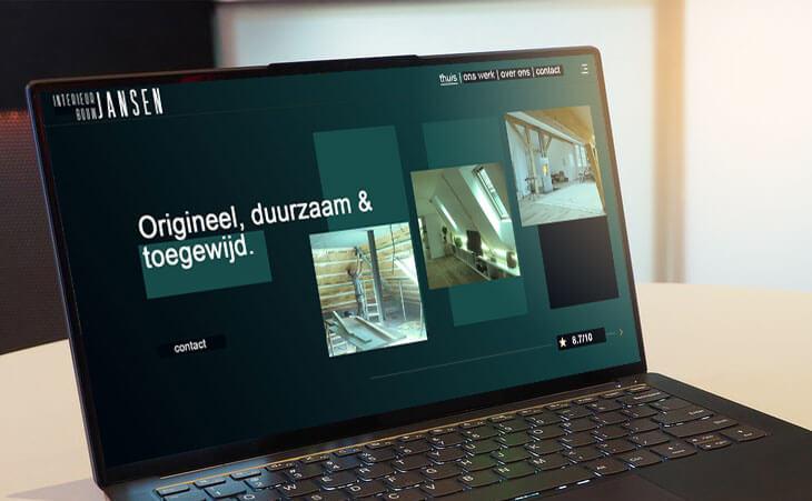 Website design van Interieurbouw Jansen