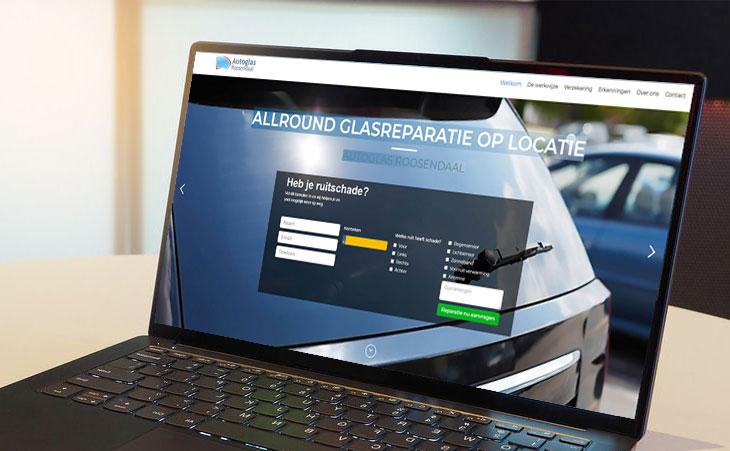 Website design van Autoglas Roosendaal
