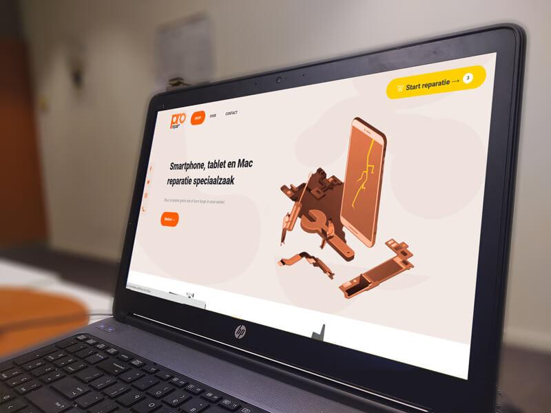 Website design van Pro Repair