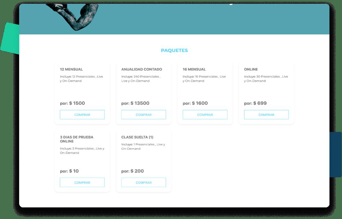 página web para centros de funcional
