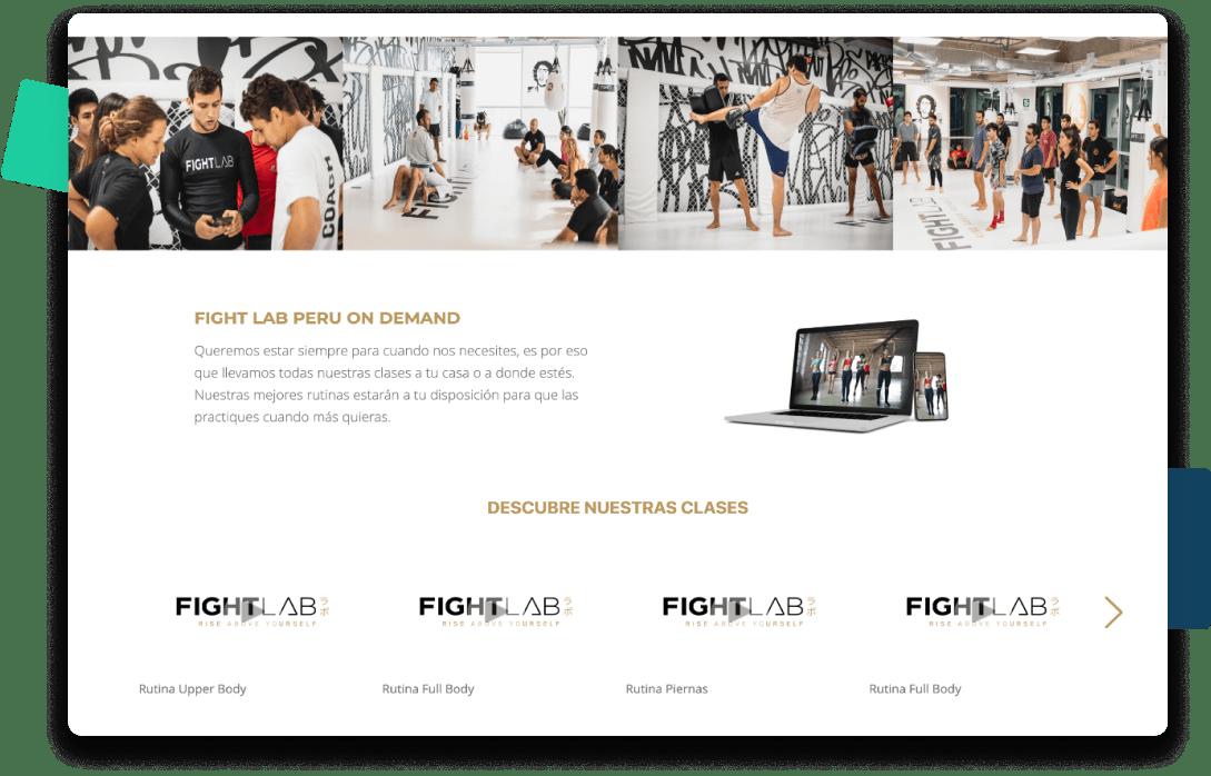 página web para centros de mma o artes marciales
