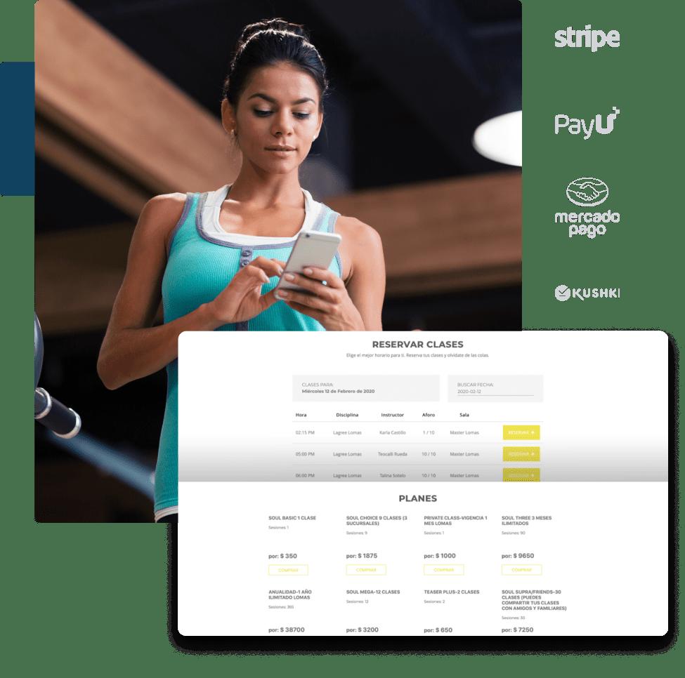 sistema o software para gym